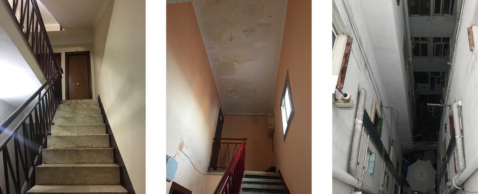Fig. 2/ Problemas de accesibilidad, mantenimiento y humedades en los edificios.
