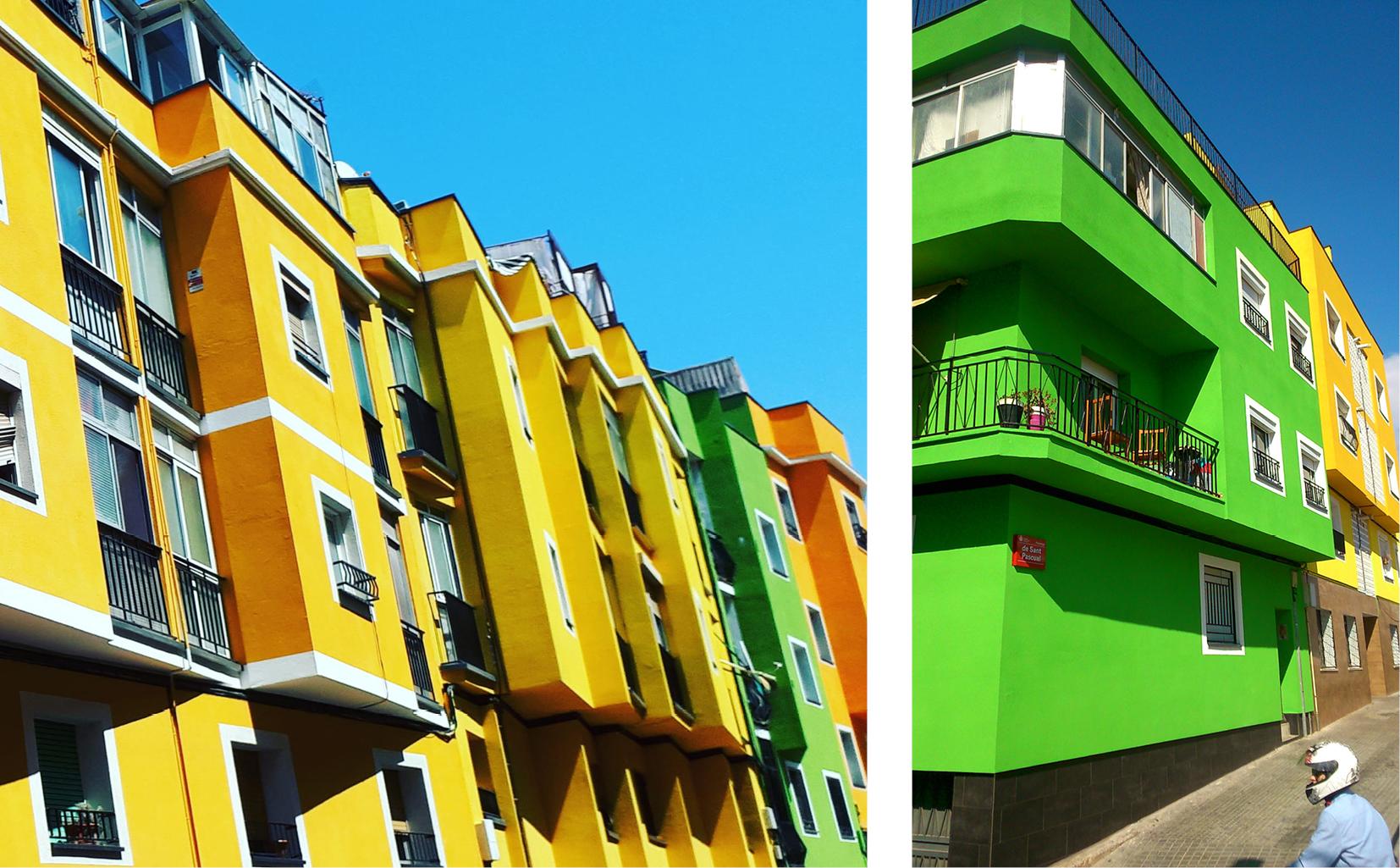Fig. 7/ Rehabilitación de envolventes e imagen urbana de la intervención en Santa Coloma de Gramenet.