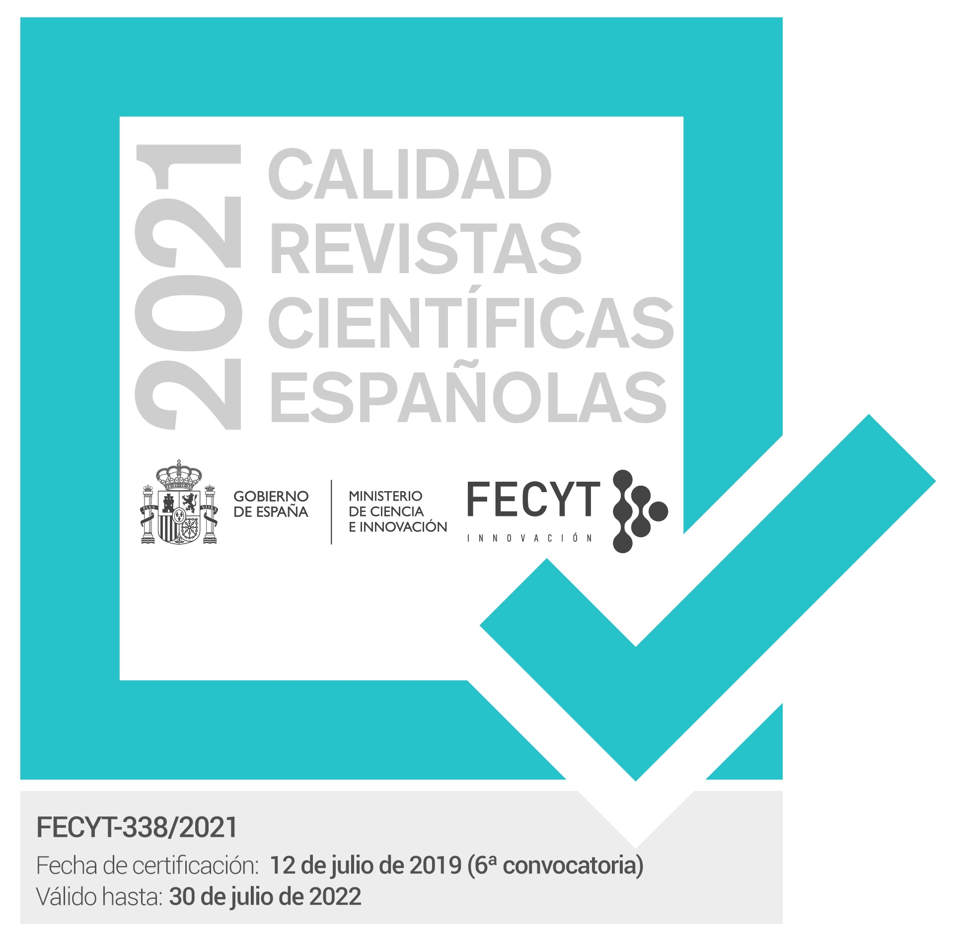 Sello de calidad FECYT 2021